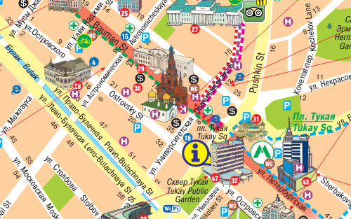 Kazan Tourist Map